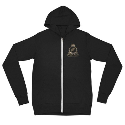 Queen Palm Royalty Unisex Zip Hoodie