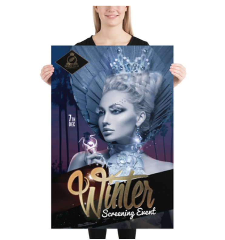 2020 QPIFF Winter Screening Event Poster (24 x 36)