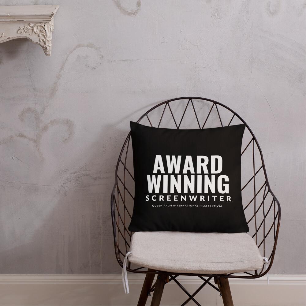 QPIFF Award Winning Screenwriter Throw Pillow