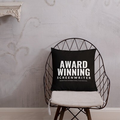 QPIFF Award Winning Screenwriter Throw Pillow