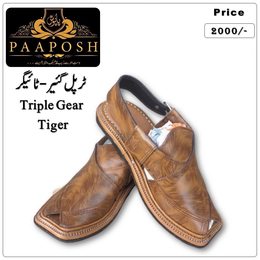 Triple Gear Peshawari Chappal | Tiger - 06