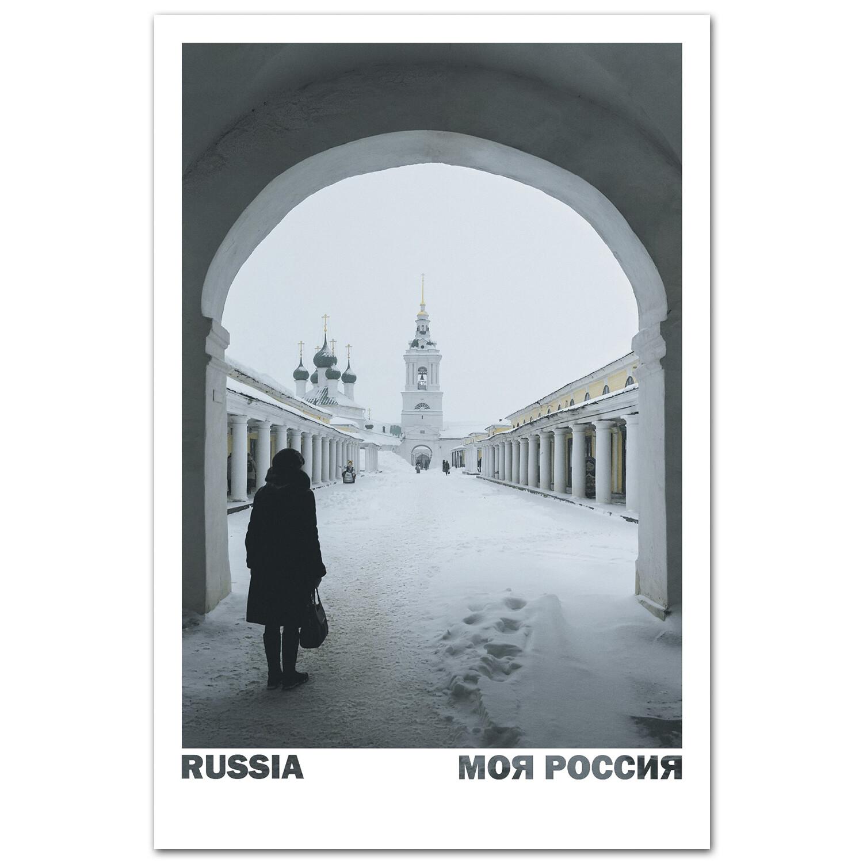 Торговые ряды в заснеженной Костроме