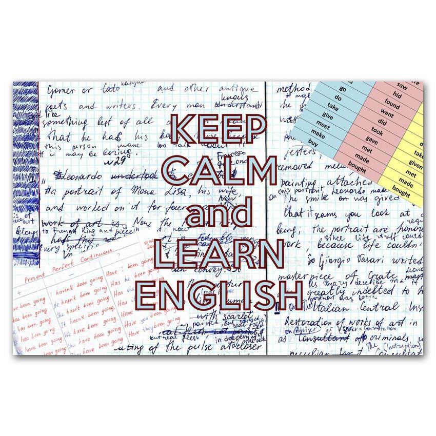 Keep Calm и учи английский