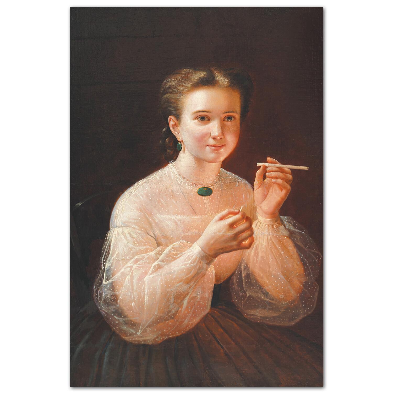 Девушка с папиросой. Пётр Заболотский