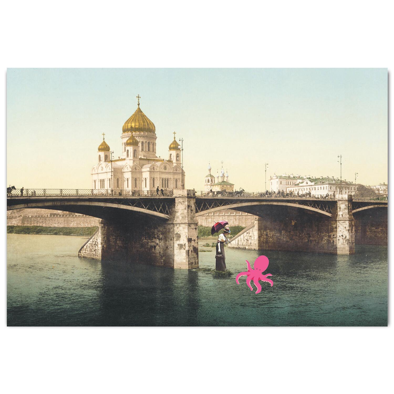 Москва. Храм Христа Спасителя и Большой Каменный Мост