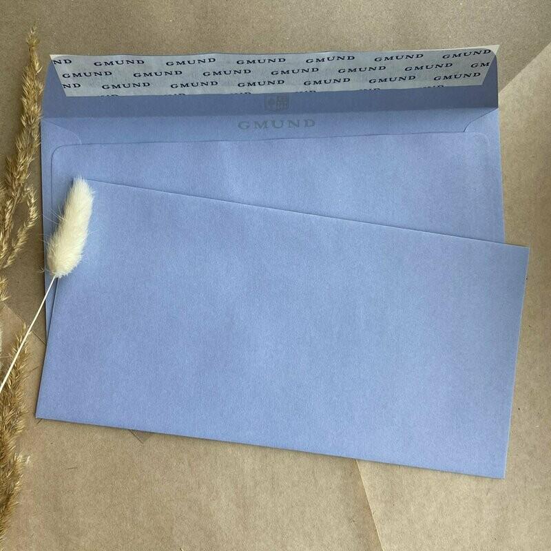 Васильковый конверт 11х22 см