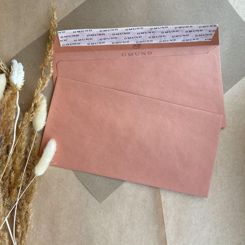 Терракотовый конверт 11x22 см