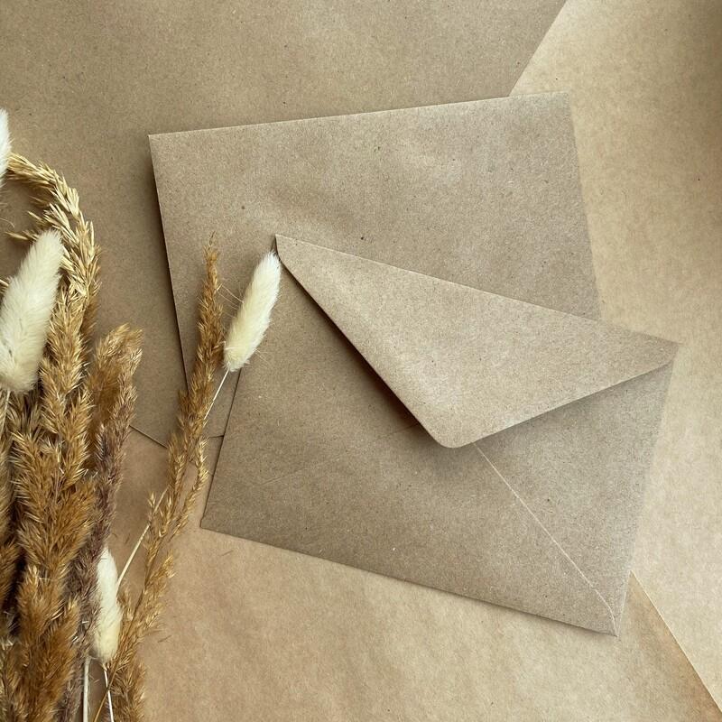 Крафтовый конверт с треугольным клапаном С6 (11,4х16,2 см)