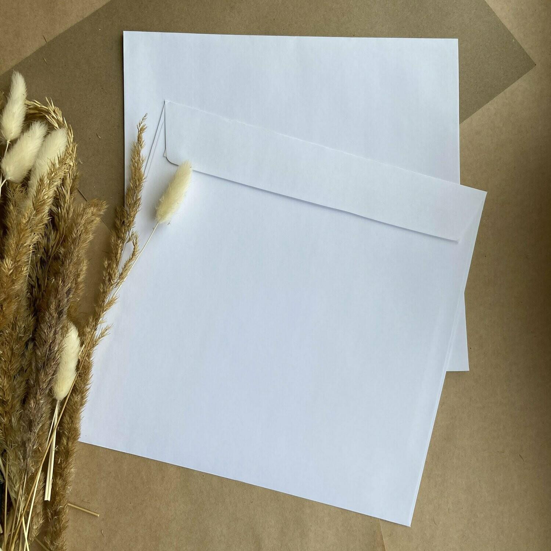 Белоснежный конверт 22,5х22,5 см