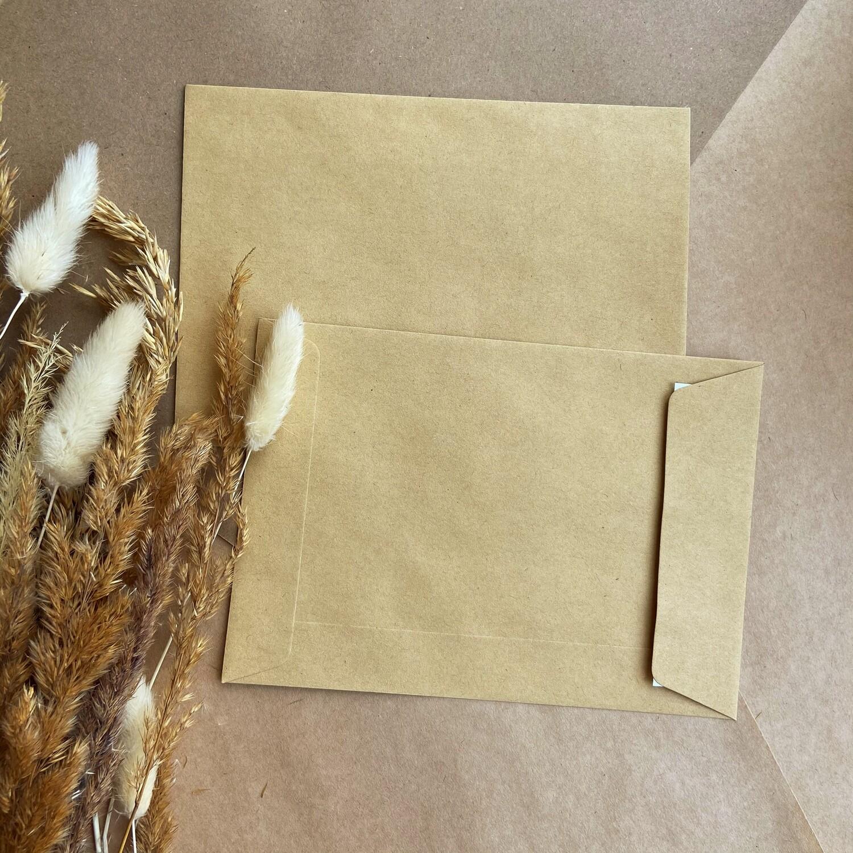 Крафтовый конверт с боковым клапаном С6 (11,4х16,2 см)