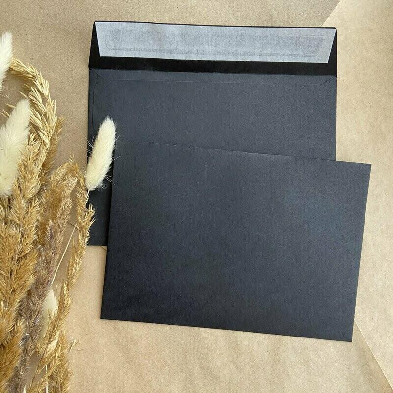 Угольный конверт С6 (11,4х16,2 см)