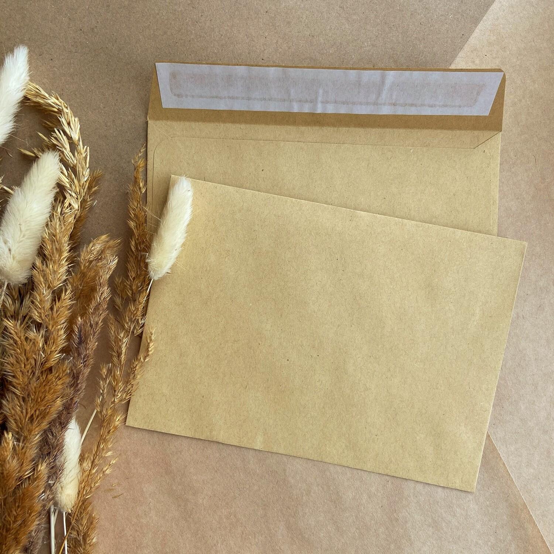 Крафтовый конверт С6 (11,4х16,2 см)