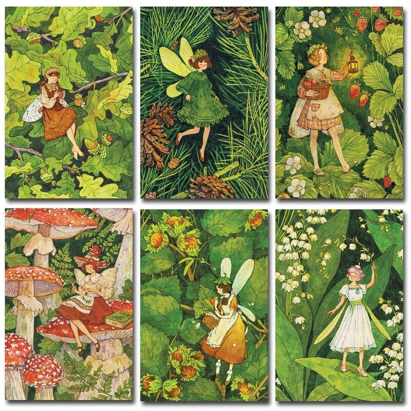 Лесные феи. Набор из 6 открыток