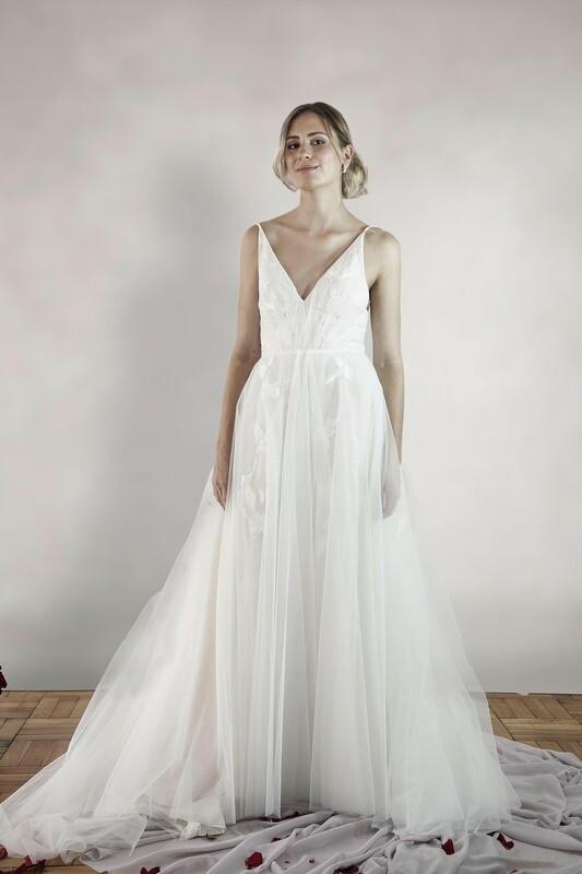 DELPHINE - A-line wedding gown