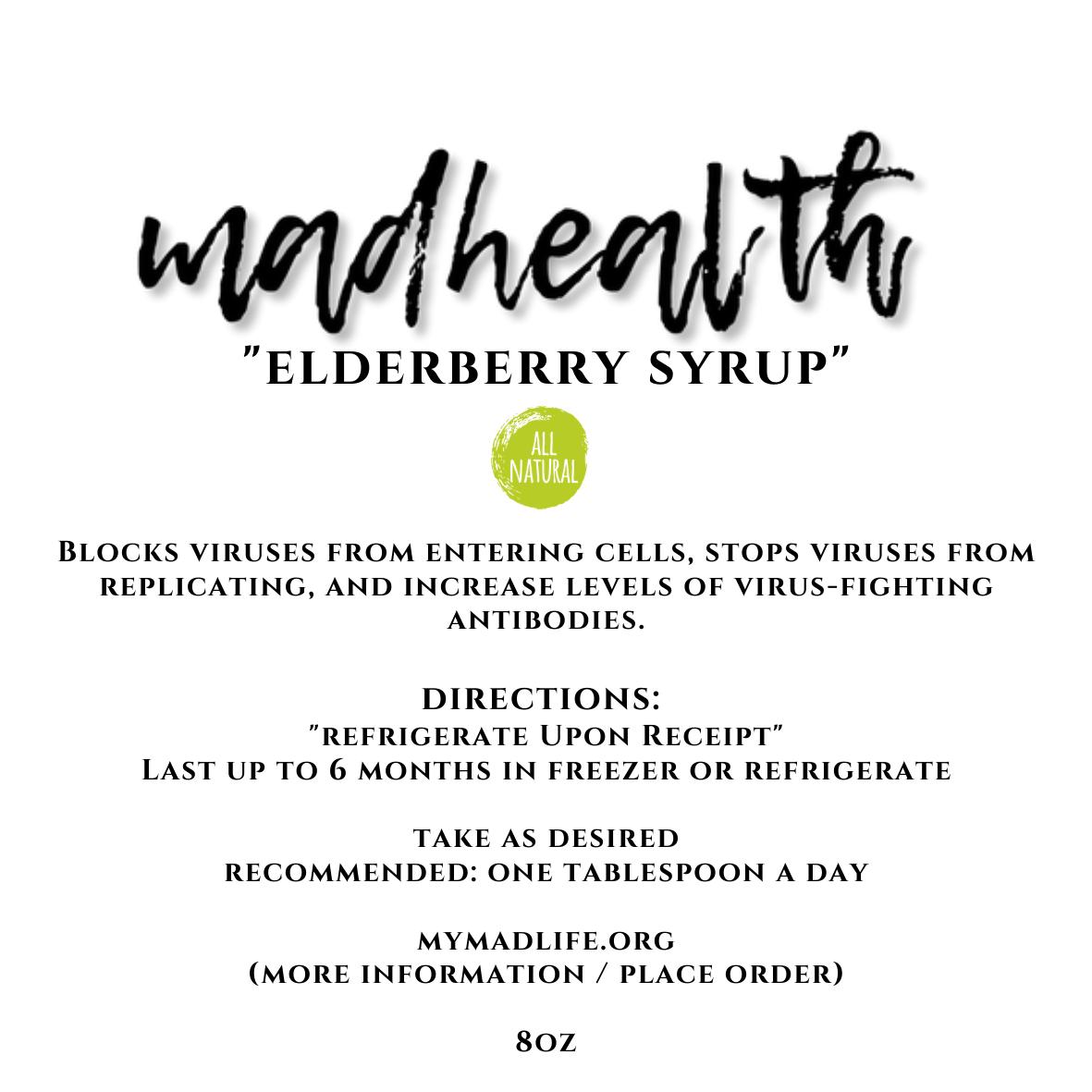 Elderberry Syrup (8oz)