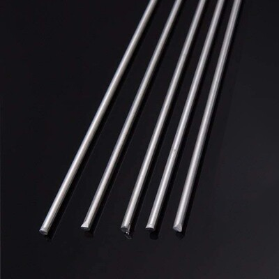 438 Silver Solder Rod 1.0mm dia x 500mm (5 Rod Pack)