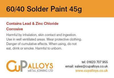 60/40 Tin Lead Solder Paint 45g