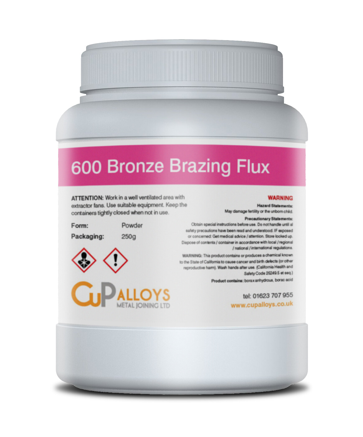 600 Bronze Brazing Flux 250g