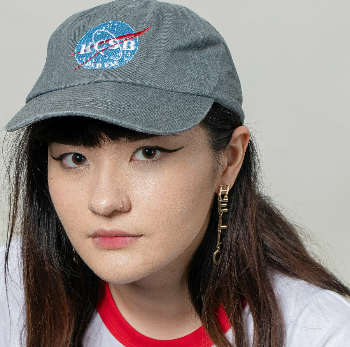 Grey Hat with Space Logo