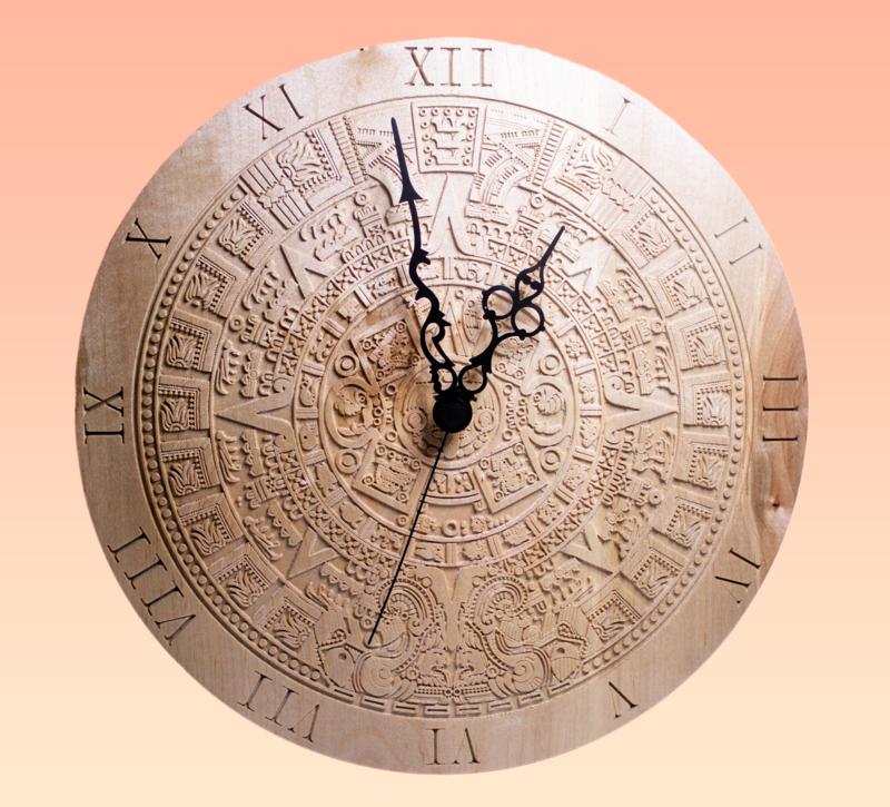Aztec Mayan Calendar Clock