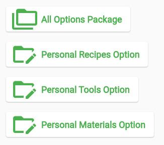 CNC Explorer Personal Recipes Libraries