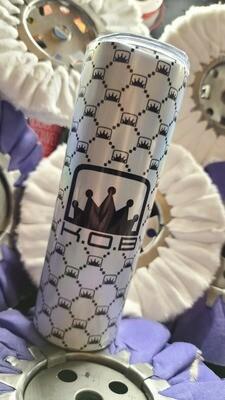 20 oz K.O.B crown print tumbler
