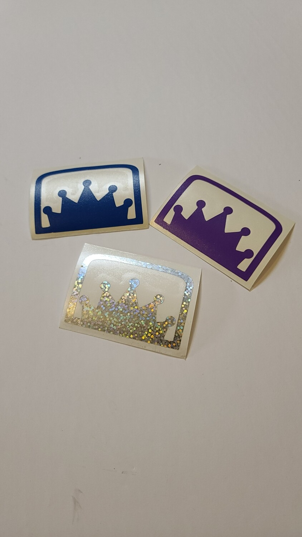 KOB Crown sticker 3x2 - 2 pack