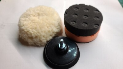 3 inch cut and polish kit with drill adapter backing pad