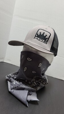 K.O.B  TRUCKER HAT GREY