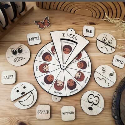 Learning Wheels-Emotions-Montessori Inspired Toy