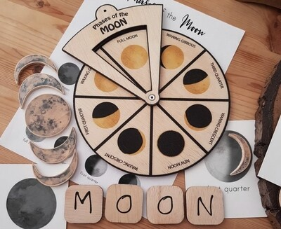 Learning Wheels-Phases of the Moon-Montessori Inspired Toy