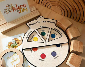 Learning Wheels-Days of The Week-Montessori Inspired Toy