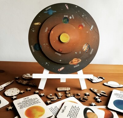 Learning Wheel-Solar System-Montessori Inspired Toy