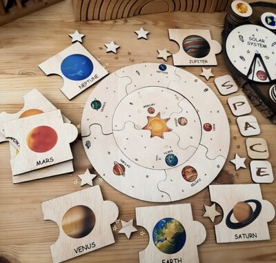 Montessori Inspired Solar System Puzzle Toy