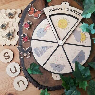 Learning Wheel-Today's Weather-Montessori Inspired Toy