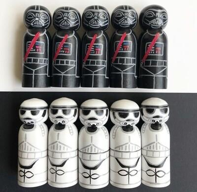 Star Wars Peg Dolls Set