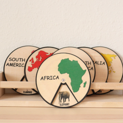 Continents and Animals Learning Chart (7 pieces)