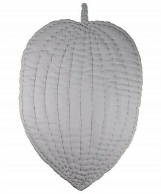 Soft Cotton Floor Leaf Play Mat- Nursery Room Decor-Gray