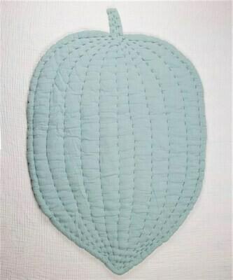 Soft Cotton Floor Leaf Play Mat- Nursery Room Decor-Mint