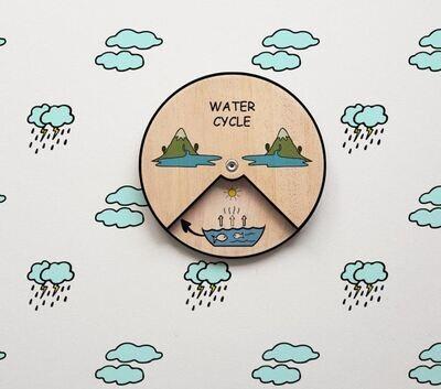 Water Life Cycle Wheel- 15 CM