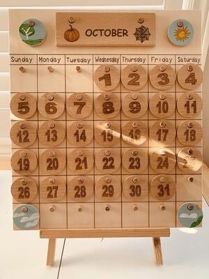 Wooden Montessori Perpetual Calendar
