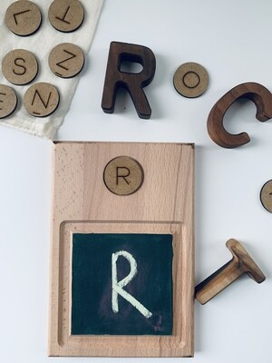 Chalk Board and 26 Letters for Practicing/Writing Letters
