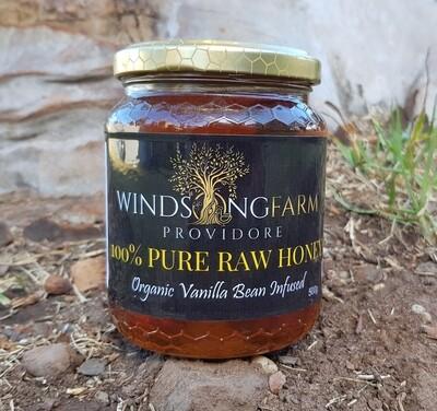 Honey 100% Raw 500g Vanilla Bean Infused