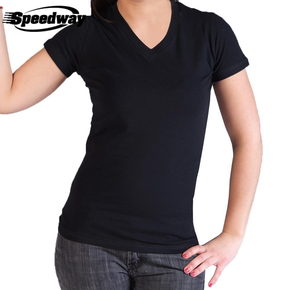 Camiseta Dama Cuello V Spandex