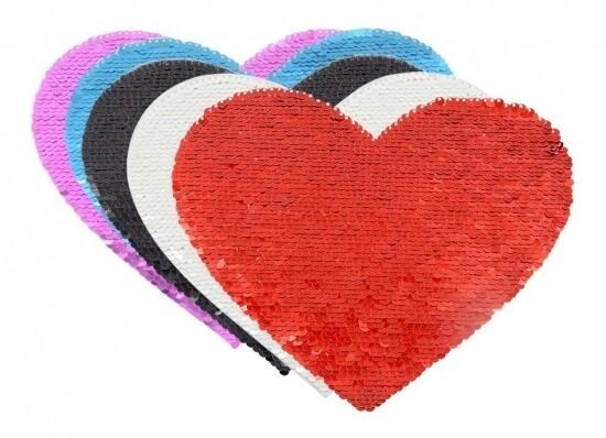 Aplique Lentejuela corazón Personalizado para ropa