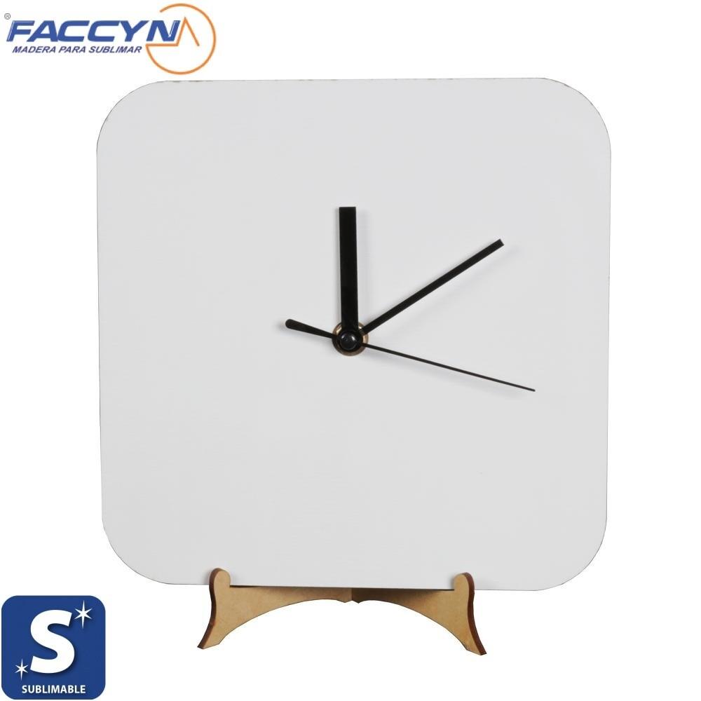 Reloj en MDF Personalizado Cuadrado