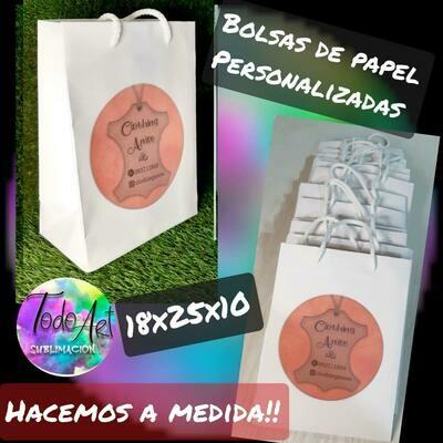 Bolsa De Papel 18X25X10
