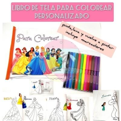 Libro de tela para colorear lavable