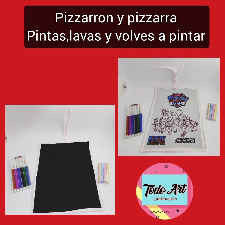 Pizarron y pizarra lavable 2en1