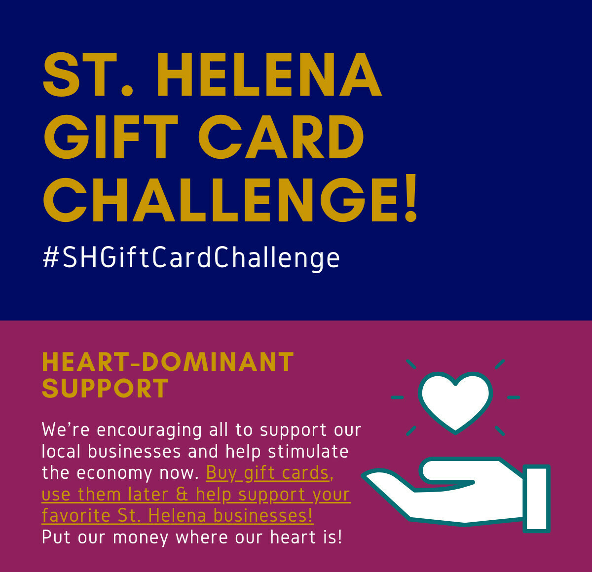 St. Helena Gift Card Challenge, $100